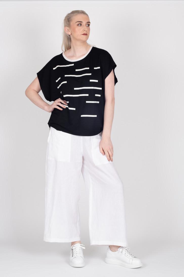 Tall woman modelling Linen Pants White