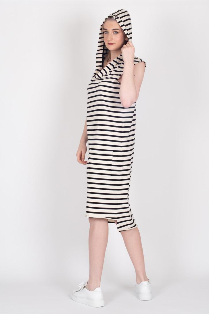 Boundaries Cream Stripe Dress