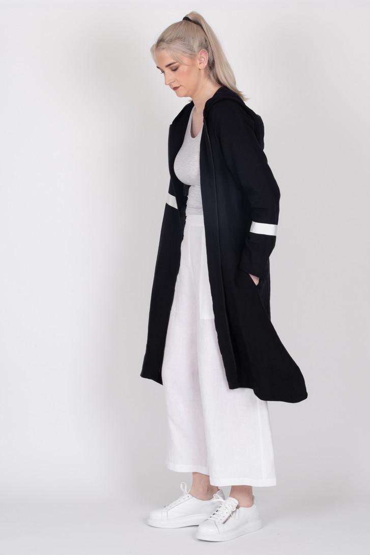 Linen Coat Black