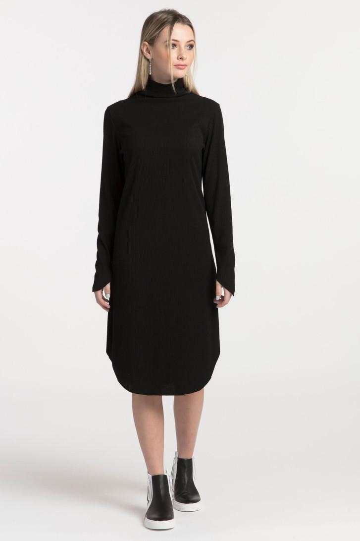Future Rib Dress Black