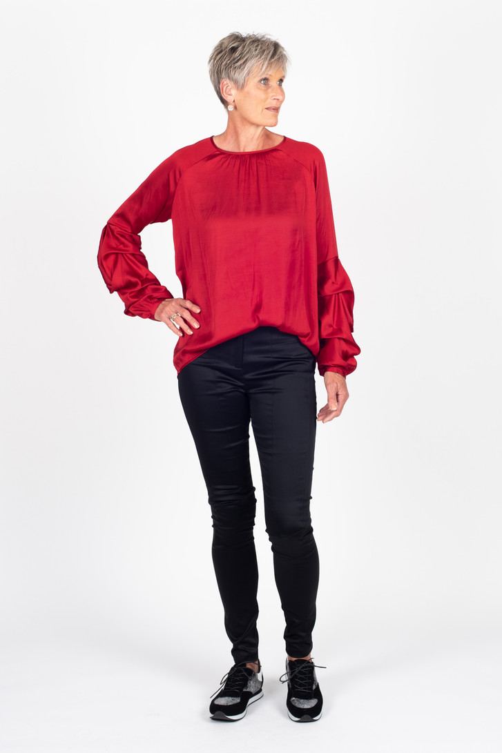 Tiered Shirt Red