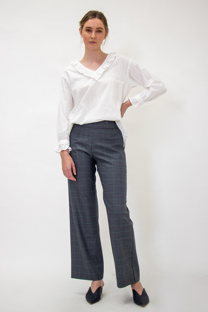 Celine Pants Grey Check for tall women