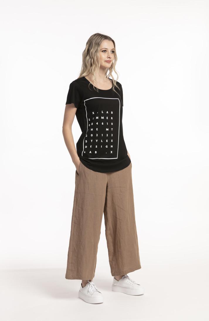 Linen Pants Hemp for tall women front view