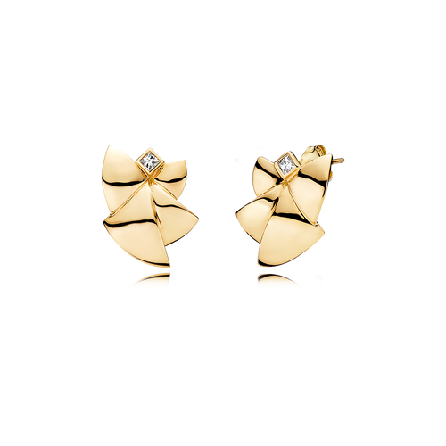 Angel of Purity Earrings - G/vs Diamonds in 18 kt. Yellow Gold