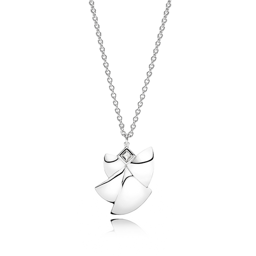 Angel of Purity Necklace - White Topaz in 925 Sterling Silver