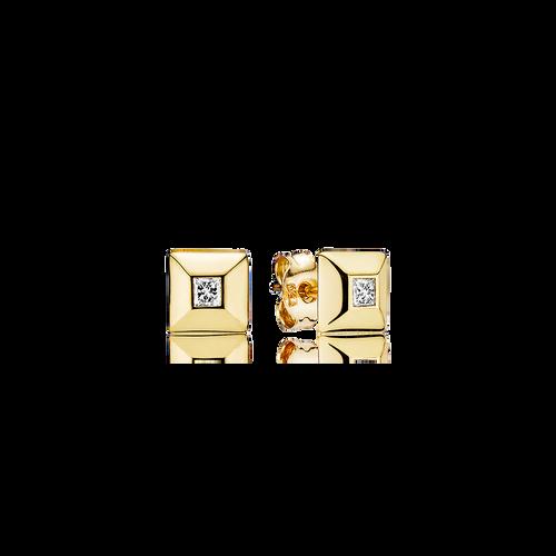 Pyramid Earrings - G/vs Diamonds in 18 kt. Yellow Gold