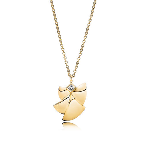 Angel of Purity Necklace - G/vs Diamond in 18 kt. Yellow Gold