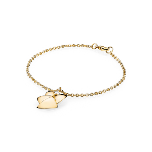 Angel of Purity Bracelet - G/vs Diamond in 18 kt. Yellow Gold