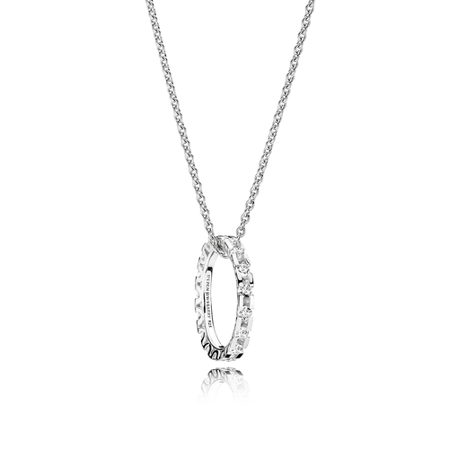 Infinity Necklace - White Topaz in 925 Sterling Silver