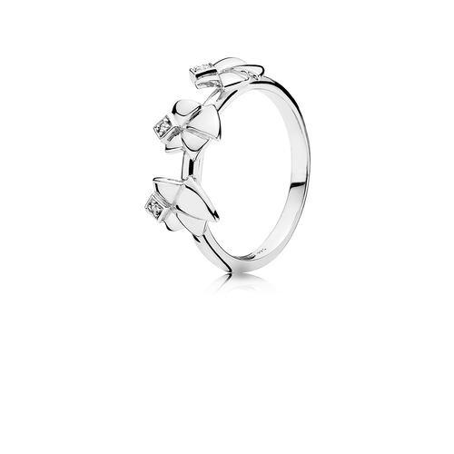 Three Angels of Purity Ring - White Topaz in 925 Sterling Silver