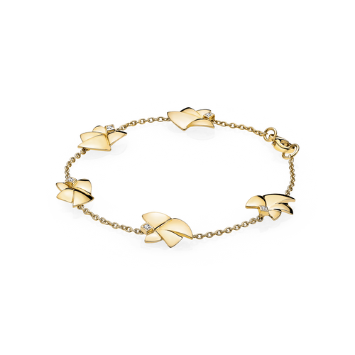 Five Angels of Purity Bracelet - Diamonds in 18 kt. Yellow Gold