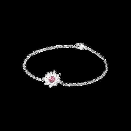 Lotus Bracelet - Rubies in 925 Sterling Silver