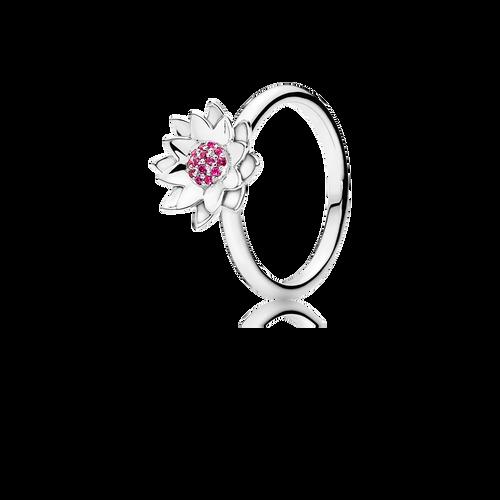 Lotus Ring - Rubies in 925 Sterling Silver