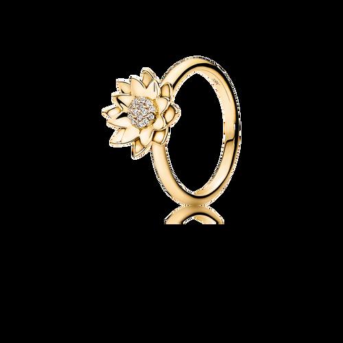 Lotus Ring - G/vs Diamonds in 18K Yellow Gold.