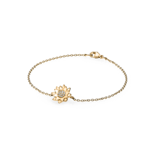 Lotus Bracelet - G/vs Diamonds in 18 kt. Yellow Gold