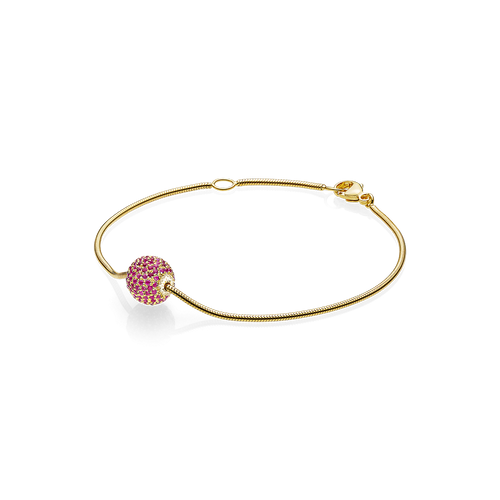 Sphere Bracelet - Rubies in 18K Yellow Gold