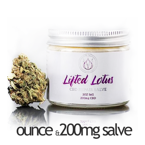 1 oz Flower and Lifted Lotus 200mg CBD Repair Salve Combo Pack