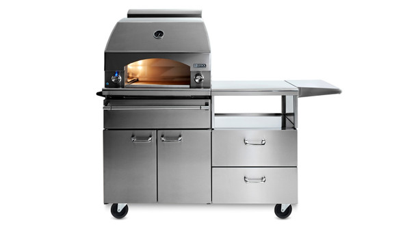"""NAPOLI OUTDOOR OVEN and 54"""" Mobile Kitchen Cart"""