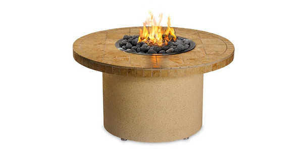 Sedona Sandalwood Circular Fire Pit with Refreshment Bowl