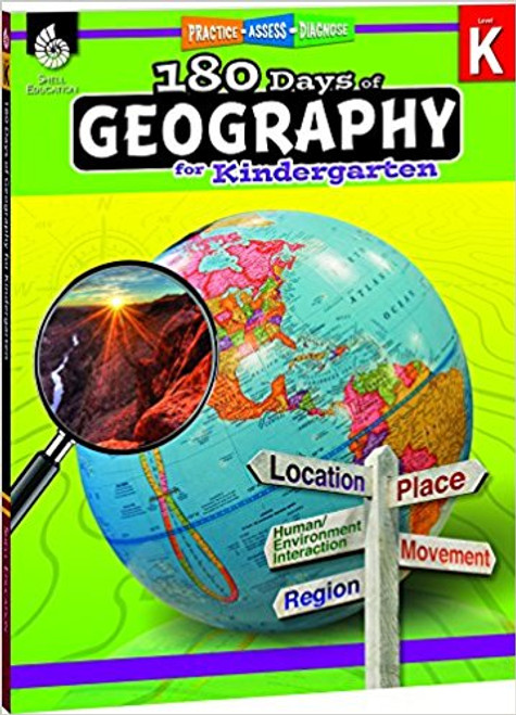 180 Days of Geography for Kindergarten Front Cover