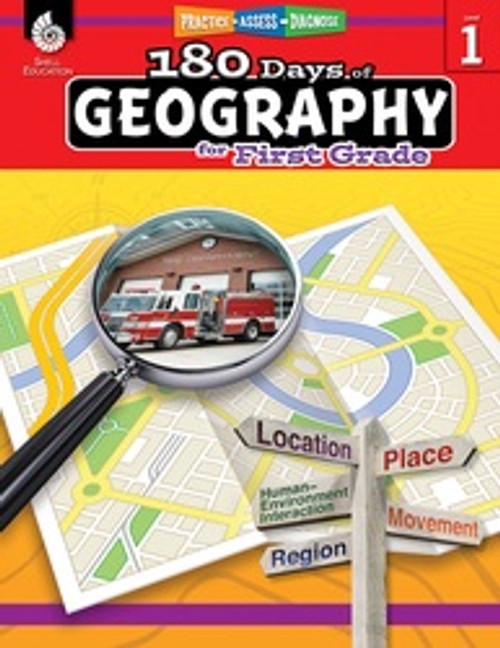 180 Days of Geography for First Grade Front Cover