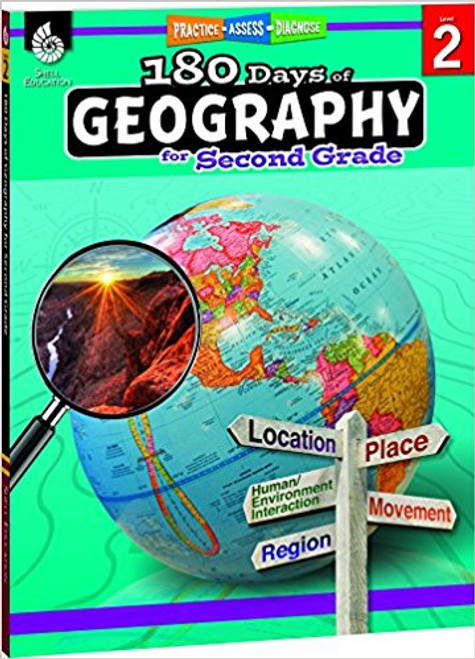 180 Days of Geography for Second Grade Front Cover