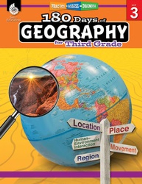180 Days of Geography for Third Grade Front Cover