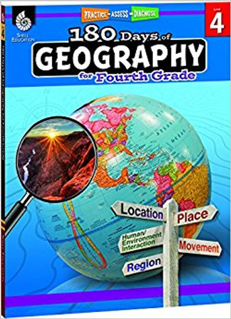 180 Days of Geography for Fourth Grade Front Cover