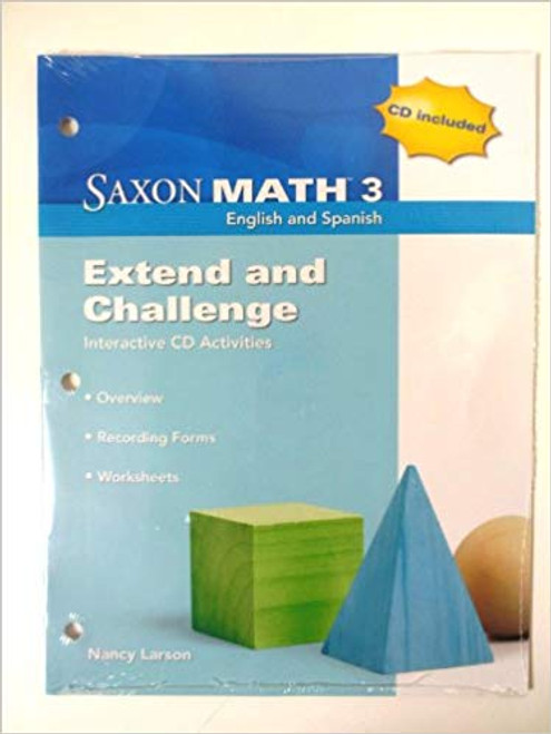 Saxon Math - Grade 3   Extend & Challenge CD Kit (CD and BLM Booklet) - 9781602770195