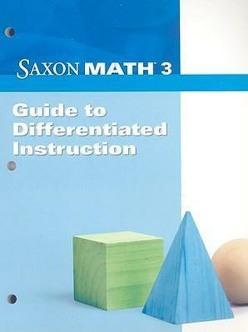 Saxon Math - Grade 3   Guide to Differentiated Instruction - 9781602774469