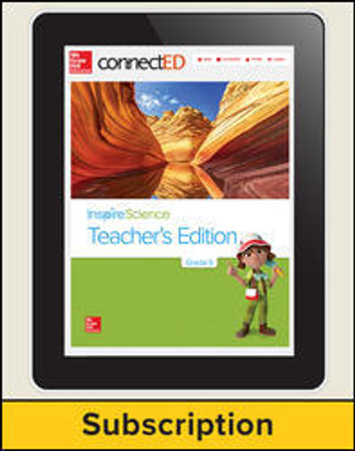 Inspire Science - Inspire Science, Online Teacher Center, 1-year Subscription - Grade 5