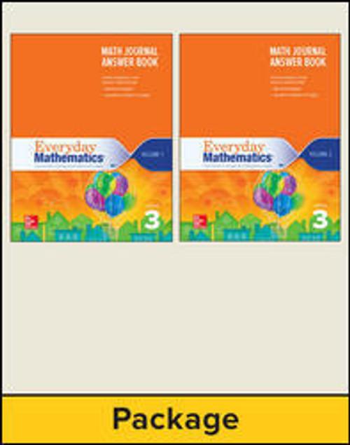 Everyday Mathematics (Grade 3)   Journal Answer Books (Vol 1 & 2) - 9780021391141