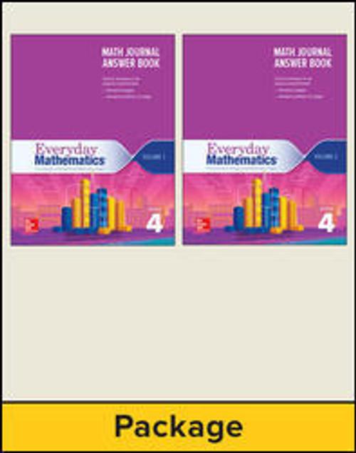 Everyday Mathematics (Grade 4) | Journal Answer Books (Vol 1 & 2) - 9780021391189