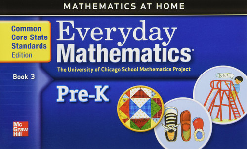 Everyday Mathematics 212 - Early Learning   Math at Home Books (set of 3) - 9780076575015
