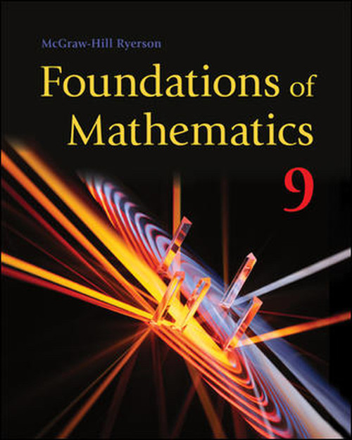 Foundations of Mathematics 9 (McGraw Hill) - Student Ebook (12 Month Online Subscription)