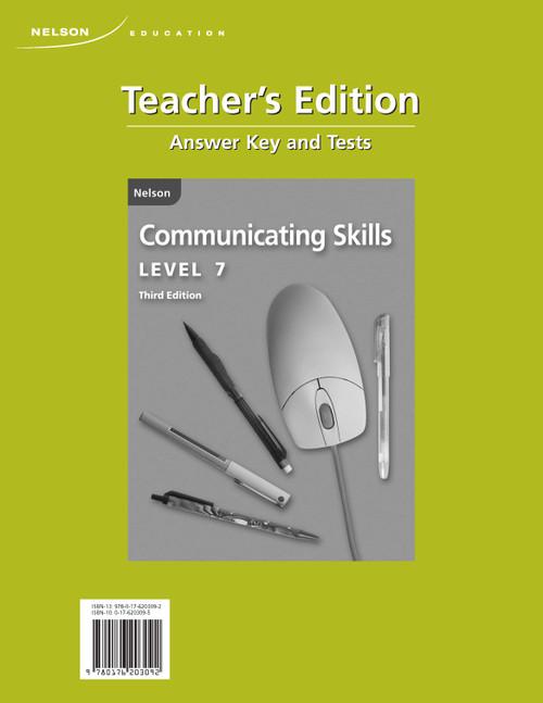 Communicating Skills Third Edition - Teachers Edition | Grade 7 - Teachers Edition - 9780176203092