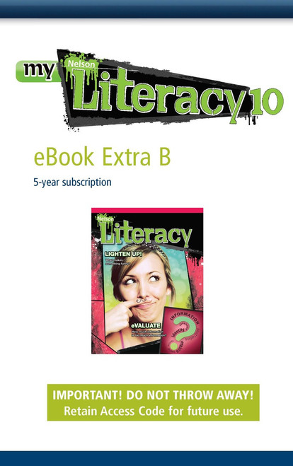Nelson Literacy 10 | Student Book B: eBook Extra B Printed Access Card - 9780176160685