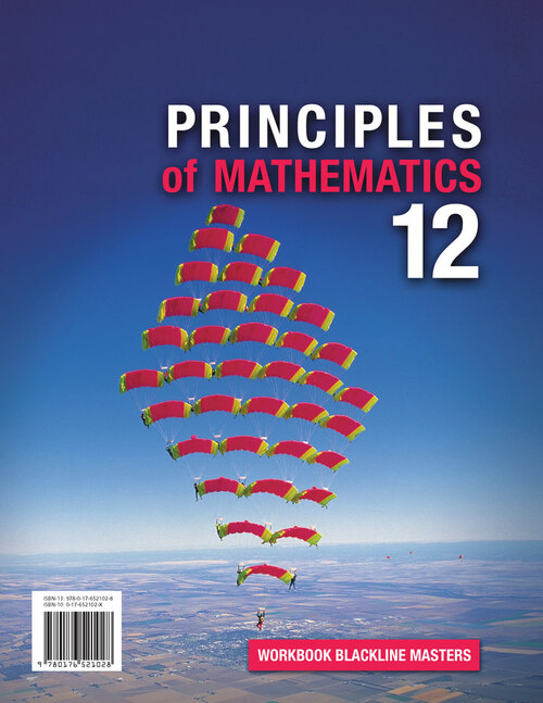Principles of Mathematics - Grade 12 | Student Workbook (Blackline Masters) - 9780176521028