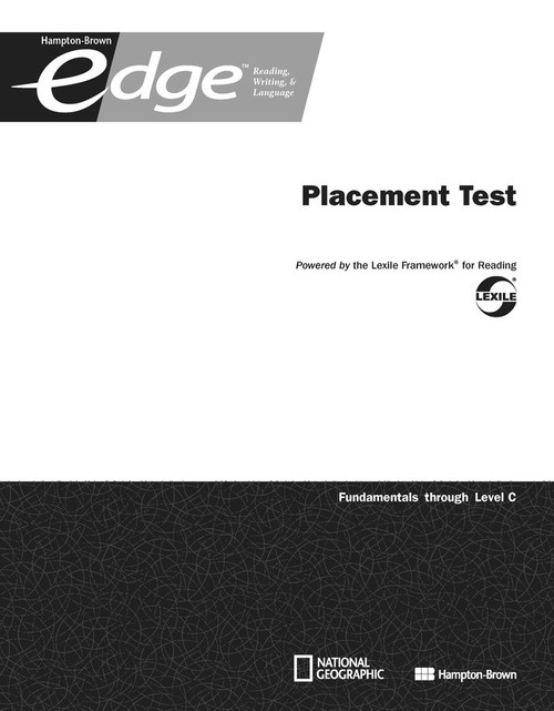 Edge 2014: Placement Test 10-Pack