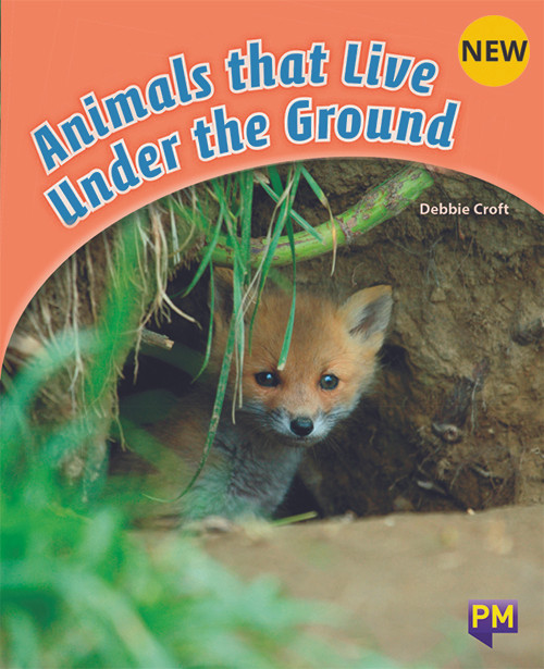 PM Library Orange Level 16 Animals That Live Under The Ground 6-pack