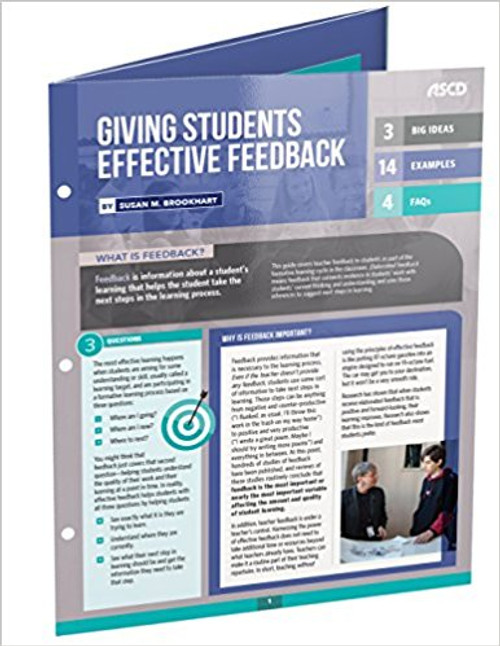 Giving Students Effective Feedback Quick Reference Guide