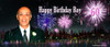 Custom adults New Years party banner for sale online. Made using a photo, Fireworks Theme