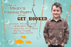 Get hooked fishing birthday party invitations