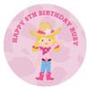 Cowgirl Party Personalised Stickers & Labels