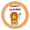 Lion Birthday Cake Icing & Personalised cake, cookie & cupcake icing sheets.