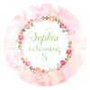 Floral Water Colour Birthday Party Labels & Stickers and Stickers.
