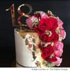 Eighteenth birthday gold mirror cake topper