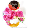 Personalised engraved Mirror disc cake topper with your message custom engraved on it.