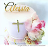 Small gold cross for front of cake -Christening cake plaque