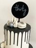 Mini Thirty 30 Cake Topper